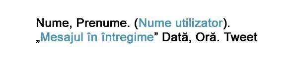 exemplu de cum citezi un tweet în formatul MLA