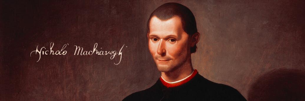 Portret și semnătură Niccolò Machiavelli, autorul Principelui