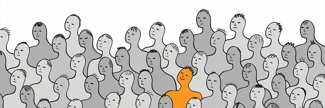 Om care se identifică în mulțime