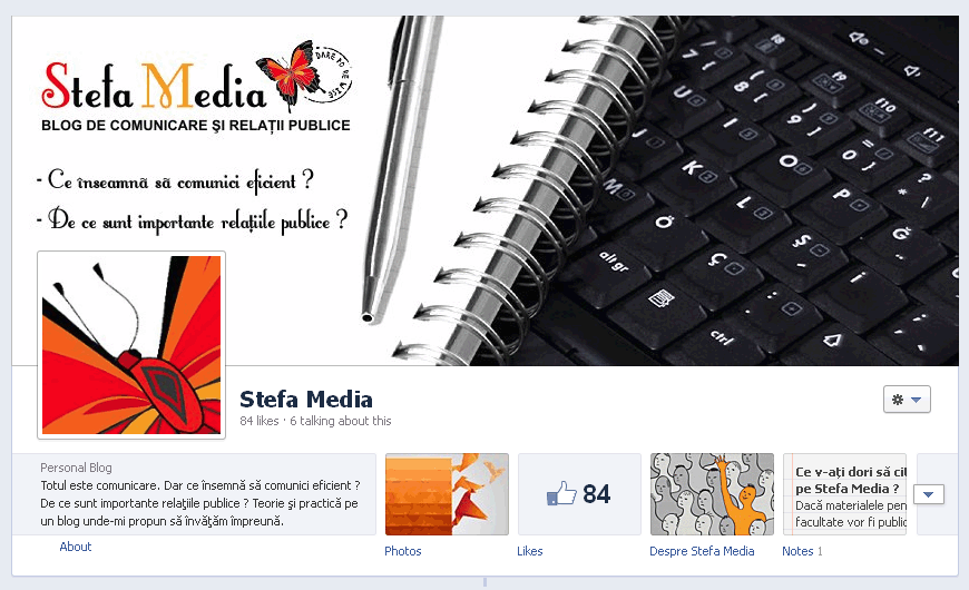 Pagina de Facebook a blogului Stefa Media