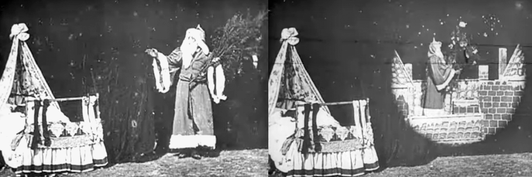Moș Crăciun în filmul din 1898