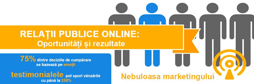 Exemplificare beneficii ale pr-ului și marketingului online