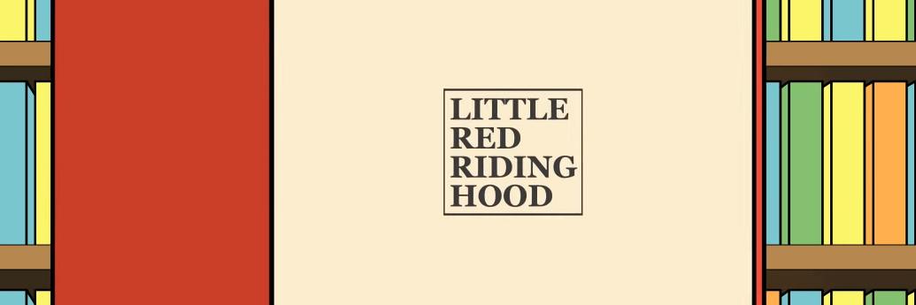 Cartea cu Scufița roșie în bibliotecă