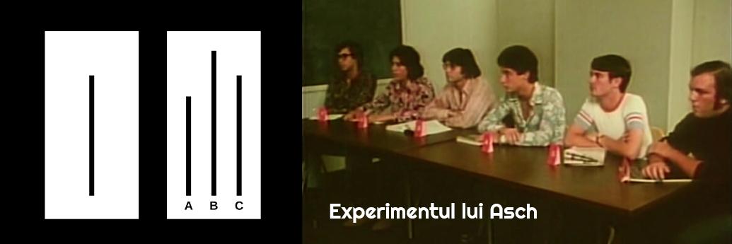 Subiecții experimentul lui Asch, recreat în 1970