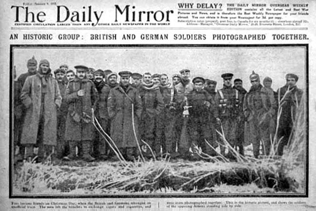 Armistițiul din 1914 în The Daily Mirror