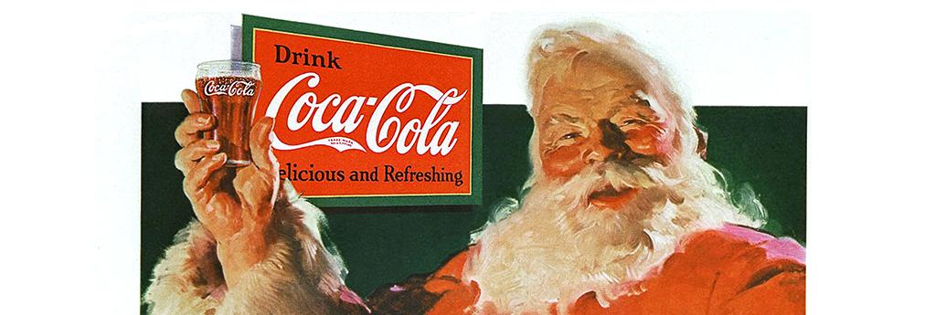 Posterul Moș Crăciun Coca-Cola 1931