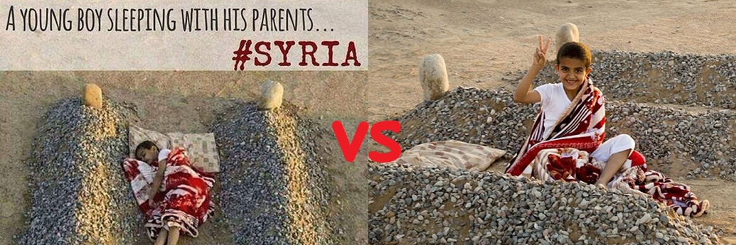 Manipularea cu orfanul sirian, înainte și după
