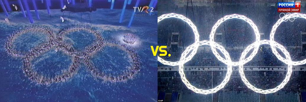Fulgul de nea de la Sochi la televizor