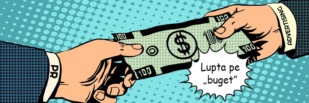 Relațiile publice și publicitatea se luptă pe buget