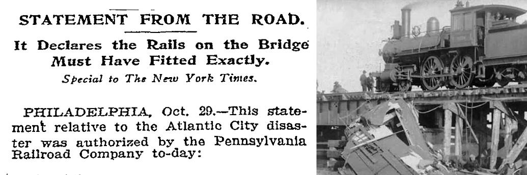 Comunicat de presă al căilor ferate după accidentul din 1906