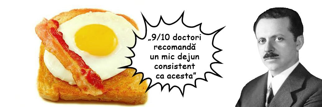Ouă și șuncă prăjită pe pâine la recomandarea lui Edward Bernays