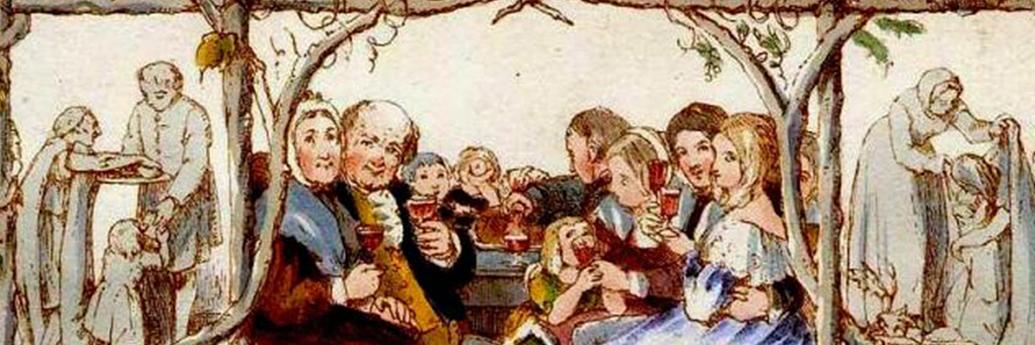 Facsimil cu prima felicitare de Crăciun, 1843