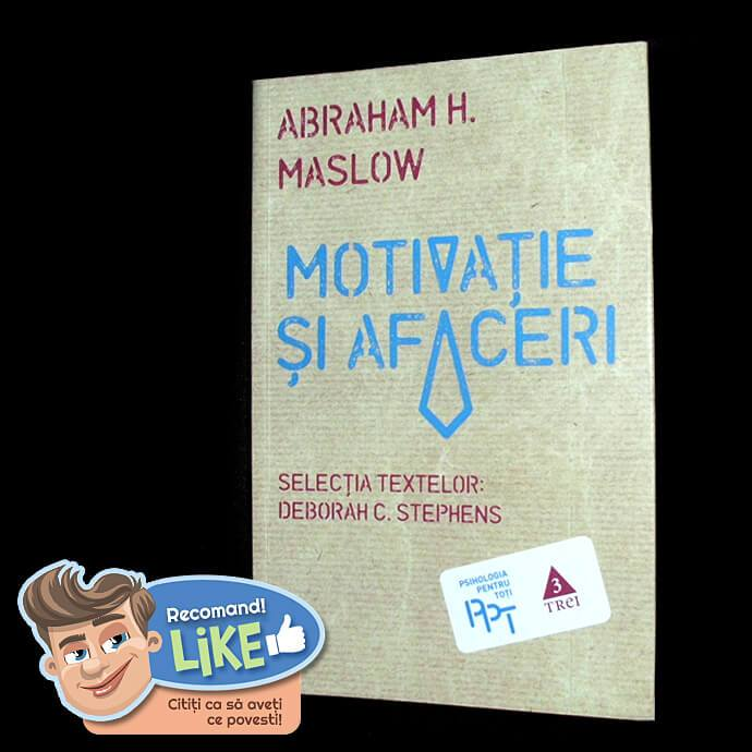 coperta cărții motivație și afaceri de abraham maslow