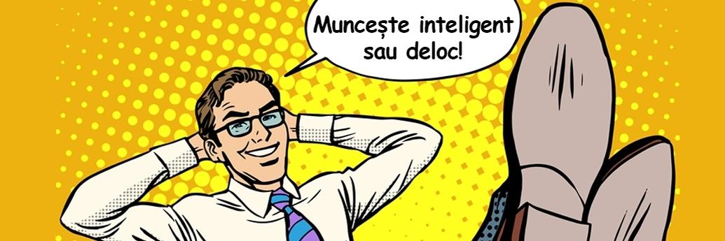 Bărbat care promovează munca inteligentă și gândirea atipică